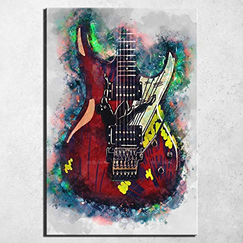 YWOHP Cartel de Arte de Pared Lienzo Grabado Rock Guitarra Lienzo Pintura Mural Cartel decoración Estilo nórdico Lienzo arte-60x80cm_No_Framed_3