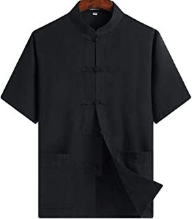 Chinese Clothing Tang Suit - Kung Fu Short Sleeve Shirt for Men