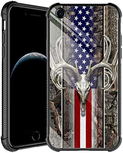 iPhone 6s Plus Case American Flag Camo Deer Skull iPhone 6 Plus Cases for Men Boys Shockproof product image