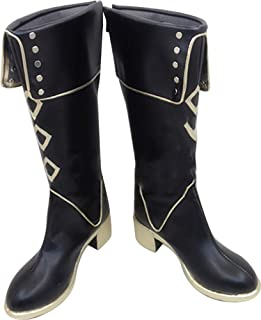 Whirl Cosplay Boots Shoes for Touken Ranbu Akashi Kuniyuki Martin Boots