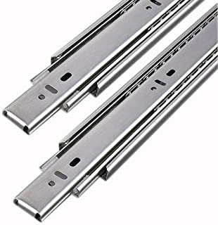 TOPAZ Touch and Move Side Mounted Cabinet Drawer/Telescopic Channel/Slide Pair for Kitchen Trolley Basket/Modular/Wooden F...