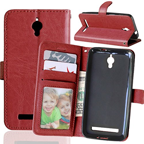 Funda ASUS ZenFone Go ZC451TG 4.5inch,Bookstyle 3 Card Slot PU Cuero Cartera...