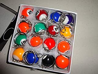 Keyring Chain Wholesale 1440pcs Pool Billiard Snooker Table Ball Keychain Keyring Party Favor Gifts - Human Table Football Christening Cue Tool Map Ball Tip Earth