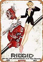 リジッドパイプスレッダーピンナップ メタルポスター壁画ショップ看板ショップ看板表示板金属板ブリキ看板情報防水装飾レストラン日本食料品店カフェ旅行用品誕生日新年クリスマスパーティーギフト
