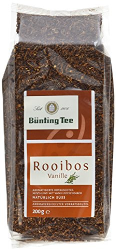 Bünting Tee Rooibos Vanille 200 g lose, 6er Pack (6 x 200 g)