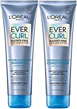 L'Oreal Paris EverCurl Sulfate Free Shampoo and Conditioner Kit for Curly Hair, Lightweight, Anti-Frizz Hydration, Gentle on Curls, with Coconut Oil, 8.5 Ounce, Set of 2 (Packaging May Vary)