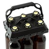 CLICK-IT BOB The Bottle Buddy Flaschenträger I Trage-Hilfe für bis zu 6 Bier-Flaschen I cooles & praktisches Gadget für Deine Party - für 0,33 l Glas-Flaschen I Bottle Carrier (schwarz/schwarz)