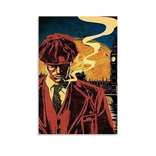 LOPOA Fan Art Peaky Blinders, poster decorativo da parete per soggiorno, camera da letto, pittura, 40 x 60 cm