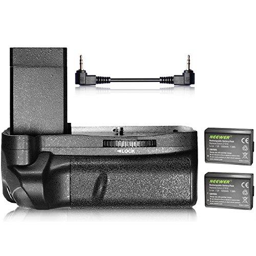 Neewer - Empuñadura de batería Vertical y 2 baterías de Repuesto para Canon EOS 1100D, 1200D, 1300D, Rebel T3, T5 y T6 (1020 mAh)