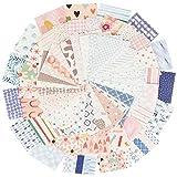 300hojas Papel Scrapbooking 56 x 83mm Bloc de Papel de Diseño para Manualidades Materiales de Scrapbooking Decoración DIY Álbumes de Recortes Colección (Grupo B)