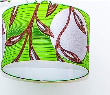 Abat-jour, suspension, luminaire en tissu africain wax. à utiliser sur un pied de lampe ou de lampadaire ou à suspendre Modèl