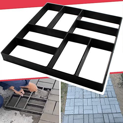 Anothera 15.7'x15.7'x1.57' Concrete Molds Reusable Walk Maker Pathmate Stone Molding Stepping Stone Path Maker Paver Yard Patio Lawn Garden DIY Walkway Pavement Brick Moulds (8-Grid)…