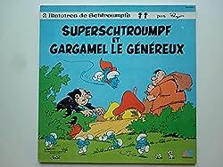 Les Schtroumpfs 33Tours vinyle Superschtroumpf Et Gargamel Le Généreux