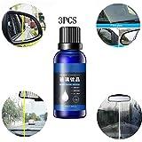 Autokristallglas-Überzugsflüssigkeit, Glas-Antibeschlag-Regenschutzmittel, Autopolitur-Außenpflegemittel für Autowindschutzscheibe, Fenster, Rückspiegel, 50 ml (3PCS)