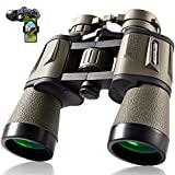 10x50 Hunting Binoculars for Adults with Smartphone Adapter 28mm Eyepiece High Power Professional Binoculars for Bird Watching Hiking Sightseeing Travel Sports Concert with BAK4 Prism FMC Lens, Mud