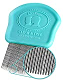 LiceLogic Eliminator Lice Comb/Nit Comb With Professional Grade Stainless Steel Metal Teeth With No Slip Grip Handle is Durable, Strong, Effective, and Reusable