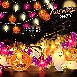 Cadena de luces de calabaza para Halloween