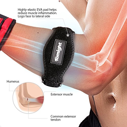 Tomight [2 Pack Elbow Brace, Tennis Elbow Brace with Compression Pad for Both Men and Women