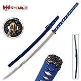 Shinwa Blue Folded Damascus Odachi Sword