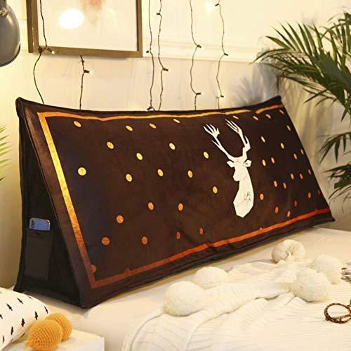 JKL J-Almohada Cojín cuña Triangular, Cama del Respaldo de la Almohadilla Grande del Amortiguador Grande Cabecera Tatami Lectura Almohada (Color : B, Size : 180x26x50cm(71x10x20inch))