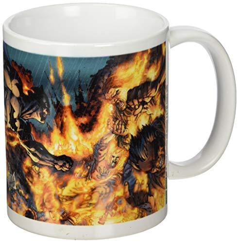 Batman Tasse en céramique Motif Flammes, Multicolore