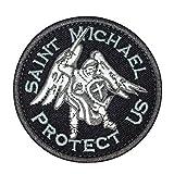 Cobra Tactical Solutions Saint Michael Protect US Parche Bordado Táctico Moral Militar con Cinta adherente de Airsoft Paintball para Ropa de Mochila táctica