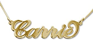 Best 14kt gold name necklace Reviews