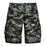 NoBrand 2020 Summer Tooling Shorts Hommes Camouflage Mode Coton Hommes Multi Pocket Pants Loose Pants