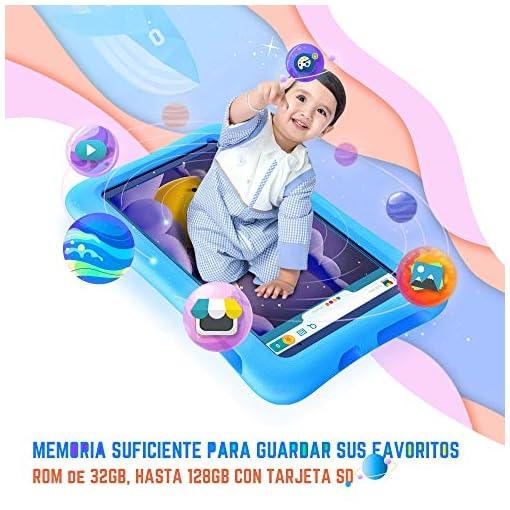Vankyo Tablet para Niños con Cámaras de 5MP y 2MP, Tablet Infantil con ROM de 32GB, Tablet Niños con WiFi Processore… 4