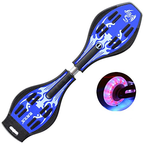 YSCYLY Komplette Skateboards,Snake Board Zweirad Flash Wheel Swing Vitality Board,FüR AnfäNger Kinder Jugendliche Und Erwachsene