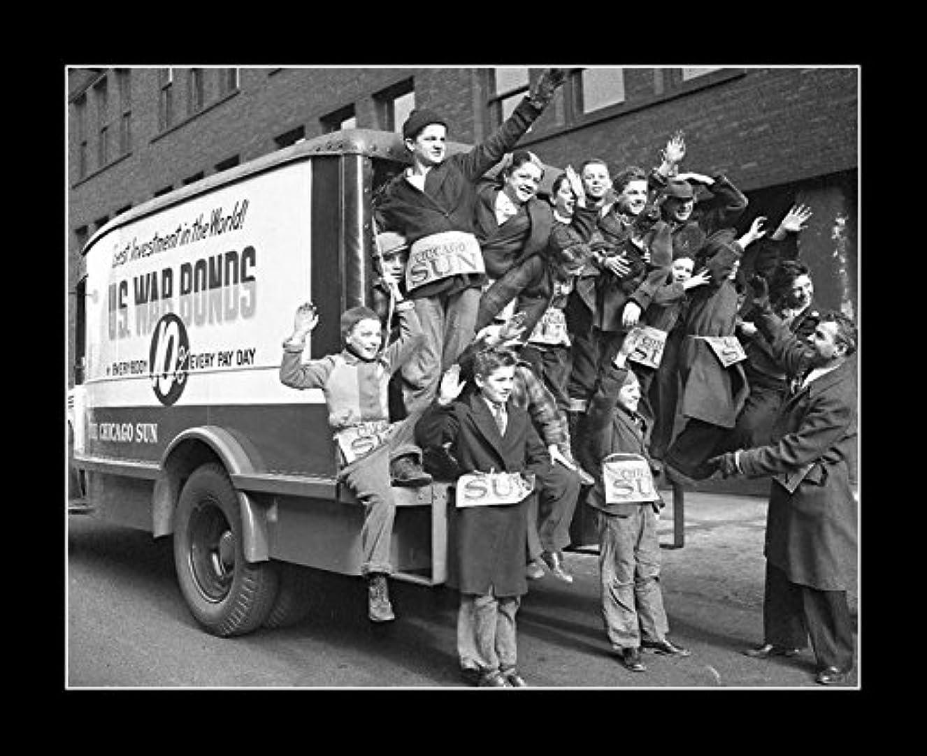 国民投票予想する化学者8?x 10のすべての木製額入り写真シカゴ販売War Bonds Kids