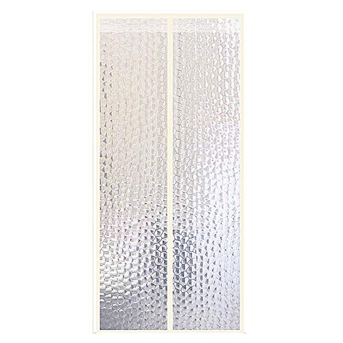 MOFANG Magic Paste Vorhänge,klimaanlage Vorhang,magnetischer Vorhang,super Ruhig Mesh Curtain Nachhaltige,zu Küche,Schlafzimmer A 150x220cm(59x87inch)