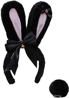 WANBAO Beautiful Crown 2pcs Lolita Rabbit Cosplay Costume Costume Set Strass Bowknot Bunny Erers Headband, con Peluche Pel...