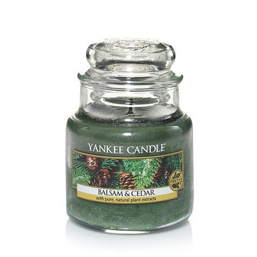 Yankee Candle Balsam & Cedar Small Jar Candle, Festive Scent by Yankee Candle Company