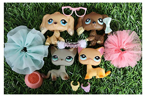 N/A USA LPS Shorthair Cat 339 391 and LPS Cocker Spaniel 748 960 Blue Eyes Dogs Figure with Accessories Lot Figure Collection Kids Birthday Xmas Gift