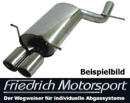 Friedrich Motorsport Auspuff Sportauspuff Endschalld/ämpfer Sportendschalld/ämpfer ESD mit Endrohr 2x90mm rund geb/ördelt 921015-18