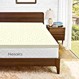 NESAILA 3 Inch Latex Mattress Topper, Natural Latex Bed Pad Topper -Premium Mattress Topper with Removable Cover - Ventilated Design- Full Size