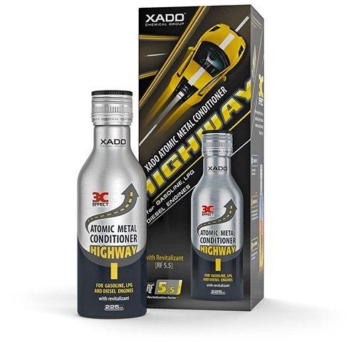 XADO Highway aditivo para Aceite de Motor. Protege el Motor y previene el Desgaste. con aditivo Revitalizant (para 3 a 10 litros de Aceite)