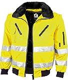 Qualitex Warnschutz Pilotenjacke gelb oder orange (XL, warngelb)