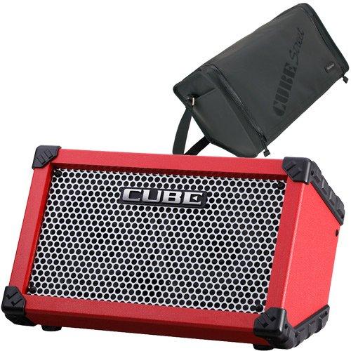 ROLAND ローランド 乾電池駆動パフォーマンスアンプ CUBE Street Red + 専用キャリングケースセット