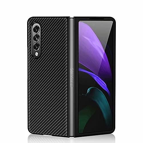 FTRONGRT Für Samsung Galaxy Z Fold 3 5G Hülle, Zusammenklappbare All-Inclusive-Clamshell-Tasche, Geeignet für Samsung Galaxy Z Fold 3 Handy Schutzhülle.Schwarz