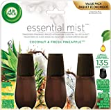 Air Wick Essential Mist Coconut and Pineapple 3ct Refill, 3 Count