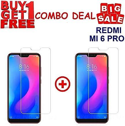 KITE DIGITAL REDMI MI 6 PRO Premium Tempered Glass Screen Protector Slim 9H Hardness 2.5D (Combo Offer)