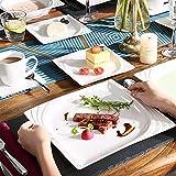 MALACASA, Serie Monica, Tafelservice 30-tlg Kombiservice Porzellan Geschirrset mit je 6 Kaffeetassen, 6 Unterteller, 6 Dessertteller, 6 Tiefteller und 6 Flachteller - 4