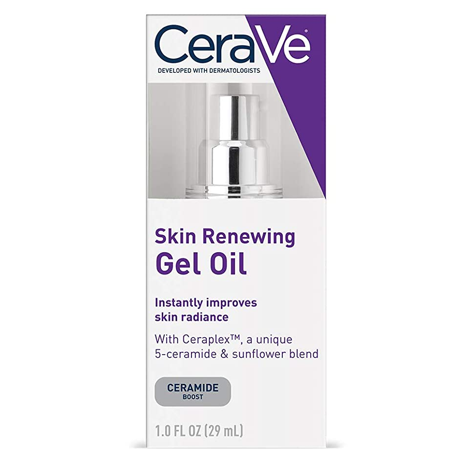 子羊空虚セミナーCeraVe Skin Renewing Gel Oil Face Moisturizer to Improve Skin Radiance - 1oz セラヴィ スキンリニューアルジェルオイル