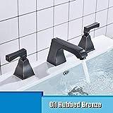 KUNEIX Grifo de la bañera Cromo níquel latón Acabado baño & amp;Mezclador de Lavabo de Cocina Grifo de Lavabo Grifo de Kohler 3 Piezas Grifo de Lavabo de baño, Orb