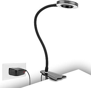 CeSunlightクリップライト、8wLED 読書灯、枕元のランプ、化粧ランプ、クリップベッドランプ.暖かい光、日光と白い光の3種類色温度、目を保護でき、10種類の調整可能の照明モード(黒)