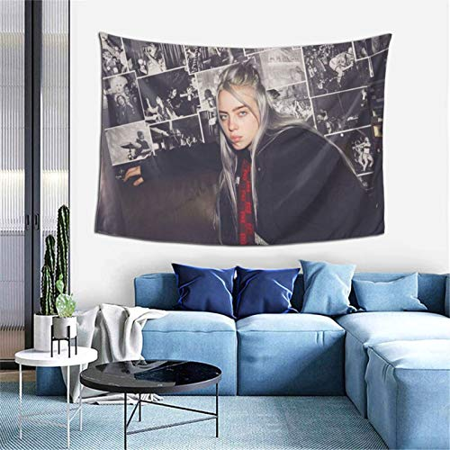 Lindseycc Billie!Eilish Tapestry Wall Hanging Home Sofa Cover Decoration Blanket for Dormitory Office
