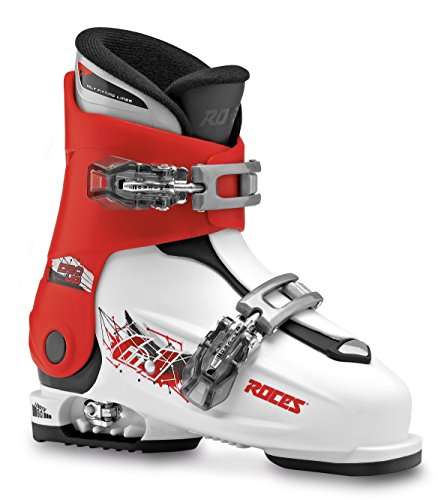 Roces Kinder Idea UP 19.0-22.0 Kinderskischuh-Verstellbar, White-Red-Black, 30-35