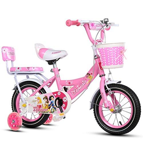 Fenfen Kinderfahrrad 3-7/4-8/6-9 Baby Car 14/16/18 Zoll Kids Bike High-Carbon-Stahlrahmen, Pink (Color : 16 inch pink)